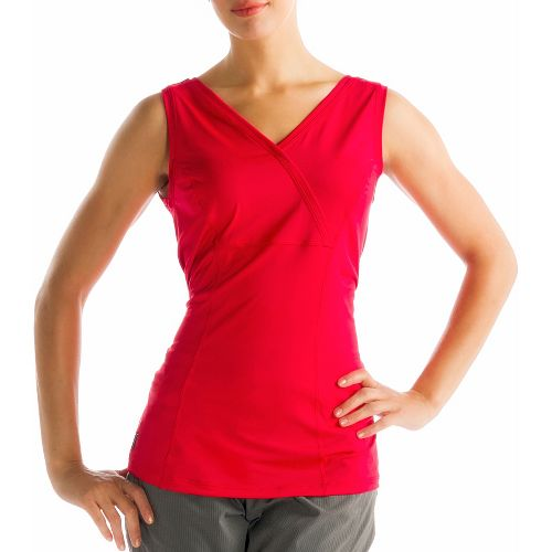 Womens Lole Sienna Tank Sleeveless Technical Tops - Pomegranate XS