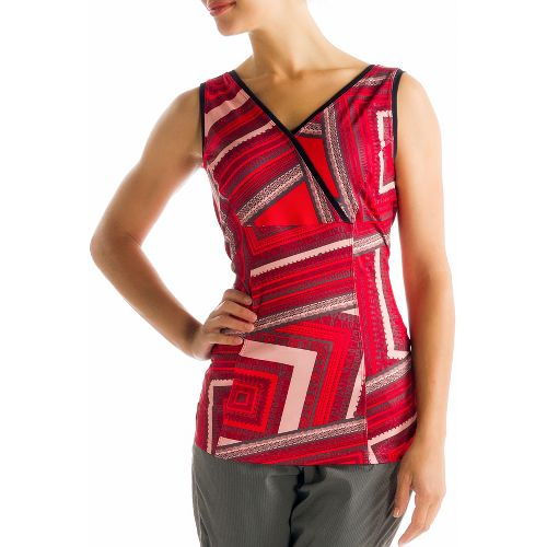 Womens Lole Sienna Tank Sleeveless Technical Tops - Pomegranate/Multi Color S