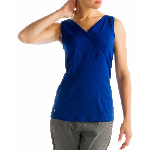 Womens Lole Sienna Tank Sleeveless Technical Tops - Solidate Blue XL