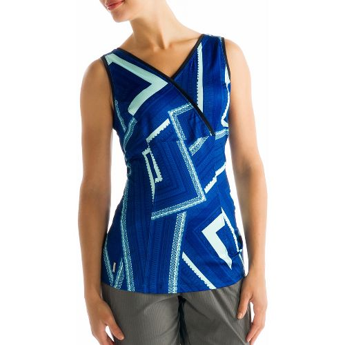 Womens Lole Sienna Tank Sleeveless Technical Tops - True Blue XL