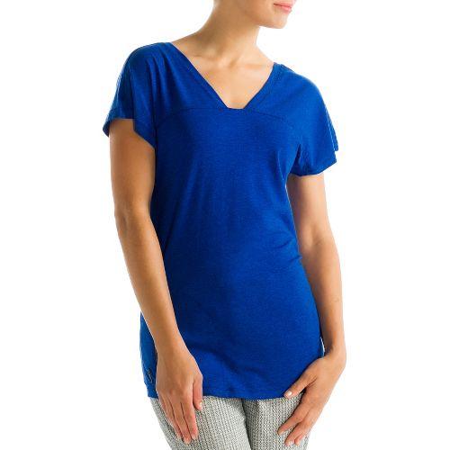 Womens Lole Sacha Short Sleeve Technical Tops - True Blue XL