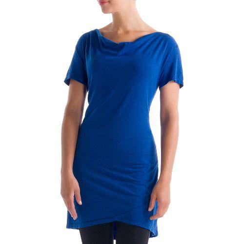 Womens Lole Syrah 2 Tunic Short Sleeve Technical Tops - True Blue XL