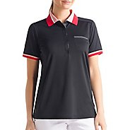 Womens Lole Joyce Polo Short Sleeve Technical Tops