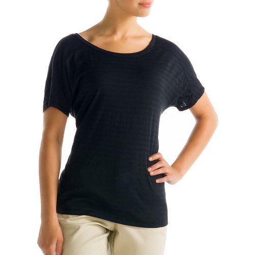 Womens Lole Concord Short Sleeve Non-Technical Tops - Black XS