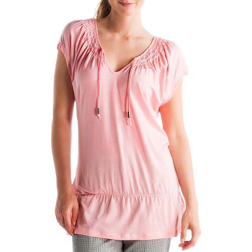 Womens Lole Ibiza Short Sleeve Technical Tops - Blossom Pink M