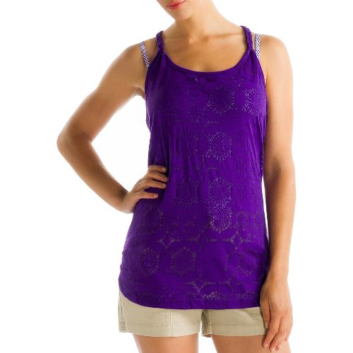 Womens Lole Samba Tunic Tanks Technical Tops - Island Purple L