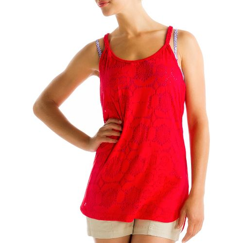 Womens Lole Samba Tunic Tanks Technical Tops - Pomegranate L