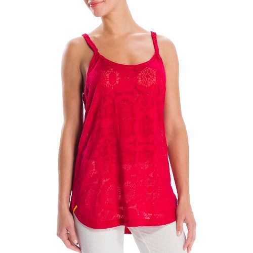Womens Lole Samba Tunic Tanks Technical Tops - Red Sea S