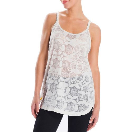 Womens Lole Samba Tunic Tanks Technical Tops - Vanilla M