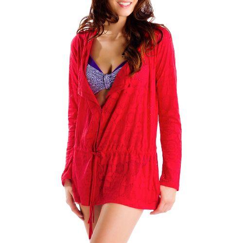 Womens Lole Mambo Cardigan Outerwear Jackets - Pomegranate XL