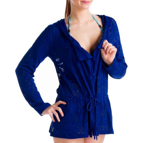 Womens Lole Mambo Cardigan Outerwear Jackets - Solidate Blue L