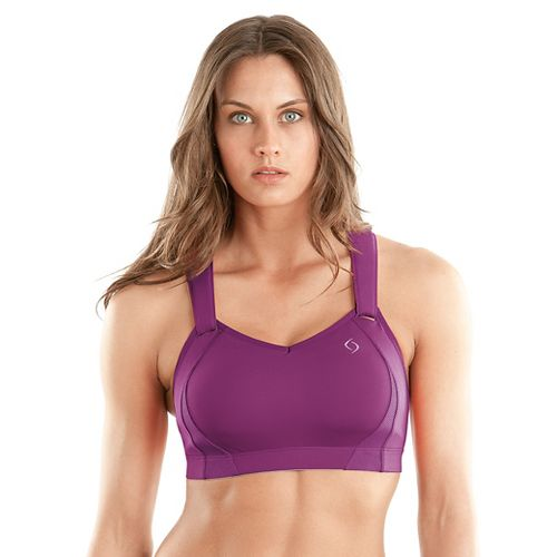 Womens Moving Comfort Juno Sports Bra - Purple Fizz 32DD