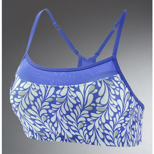 Womens Moving Comfort Alexis Printed Sports Bra - Blue Paradise M