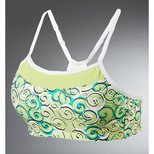 Womens Moving Comfort Alexis Printed Sports Bra - Limeade M