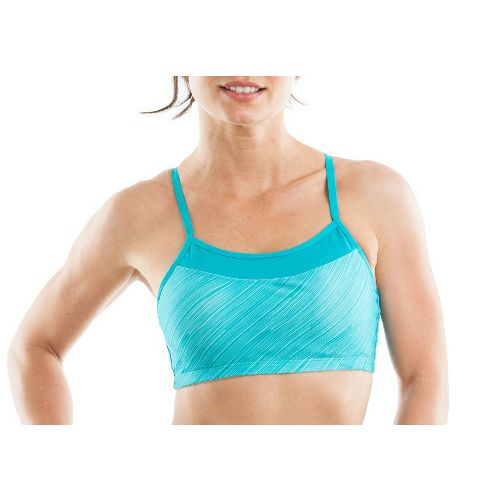 Womens Moving Comfort Alexis Printed Sports Bra - Ocean/Print M