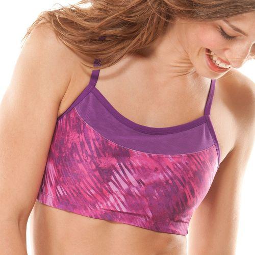 Womens Moving Comfort Alexis Printed Sports Bra - Purple Fizz S