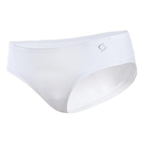 Womens Moving Comfort Workout Bikini Underwear Bottoms - White S