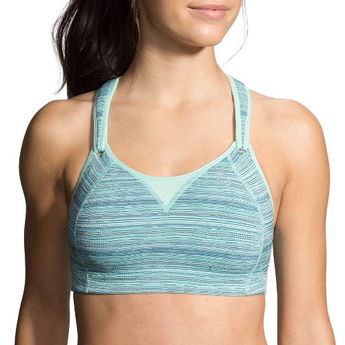 Womens Moving Comfort Rebound Racer Sports Bra - Surf Jacquard 38D