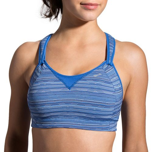 Womens Brooks Rebound Racer Sports Bra - Wave Jacquard 32DD