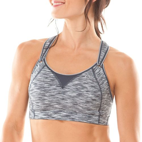 Womens Brooks Rebound Racer Sports Bra - Asphalt 32D