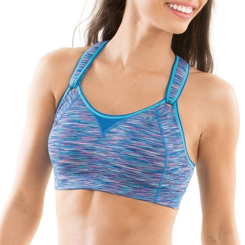 Womens Moving Comfort Rebound Racer Sports Bra - Starlight Blue 36B