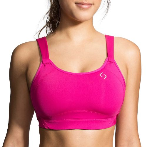 Womens Moving Comfort Jubralee Sports Bra - Bloom/Navy 38F