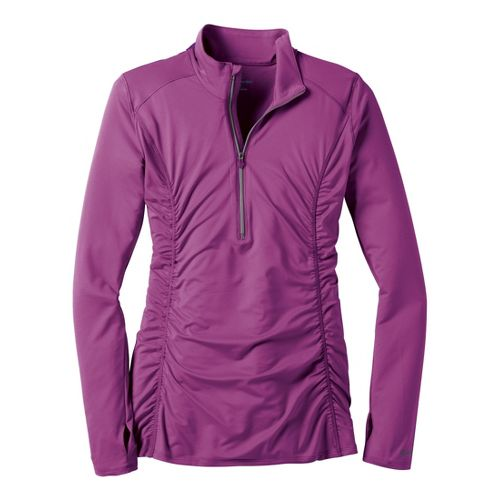 Womens Moving Comfort Sprint Long Sleeve 1/2 Zip Technical Tops - Purple Fizz L