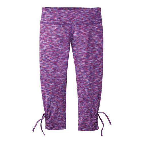 Womens Moving Comfort Urban Gym Capri Tights - Purple Fizz XL