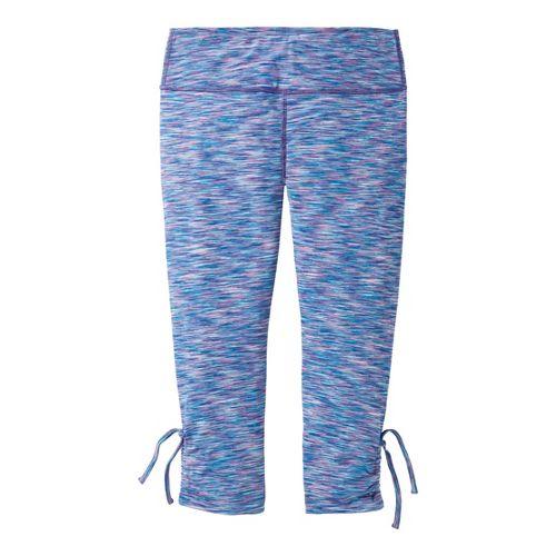 Womens Moving Comfort Urban Gym Capri Tights - Stardust Melange XL