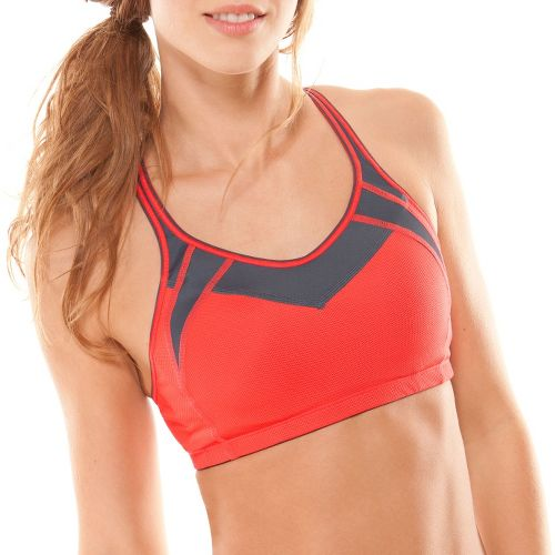 Womens Moving Comfort Urban X Over A/B Sports Bra - Red Hot M