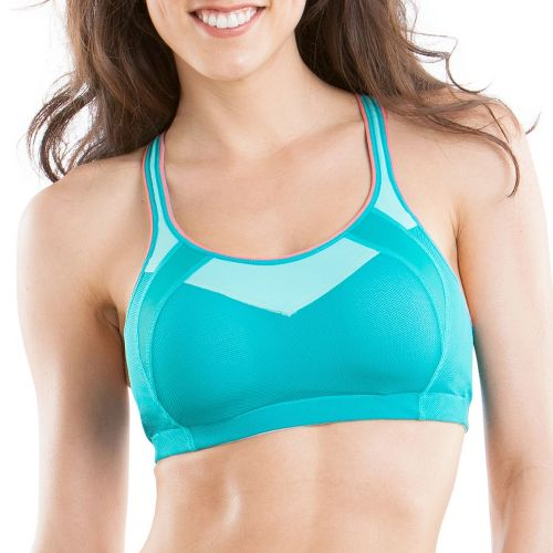 Womens Moving Comfort Urban X Over C/D Sports Bra - Aqua/Ocean S