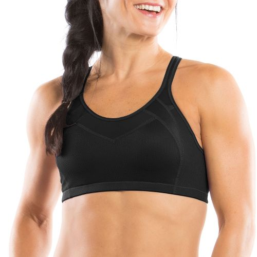 Womens Moving Comfort Urban X Over C/D Sports Bra - Black/Leather S