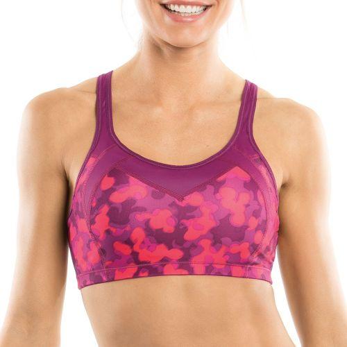 Womens Moving Comfort Urban X Over C/D Sports Bra - Blush/Mini Glitter XL