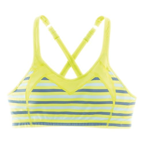 Womens Moving Comfort Urban X Over C/D Sports Bra - Celery Stripe XL
