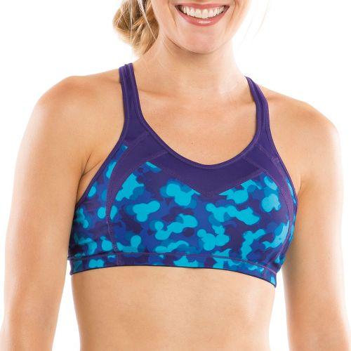 Womens Moving Comfort Urban X Over C/D Sports Bra - Gem/Mini Glitter L