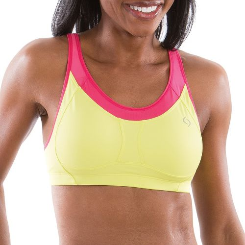 Womens Moving Comfort Vero II A/B Sports Bra - Flash/Pink Shock L