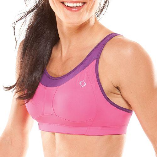 Womens Moving Comfort Vero II A/B Sports Bra - Sweet Pea/Purple Fizz XS