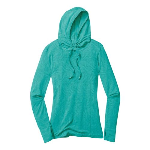 Womens Moving Comfort Flex Hoodie Long Sleeve No Zip Technical Tops - Luxe Heather M ...