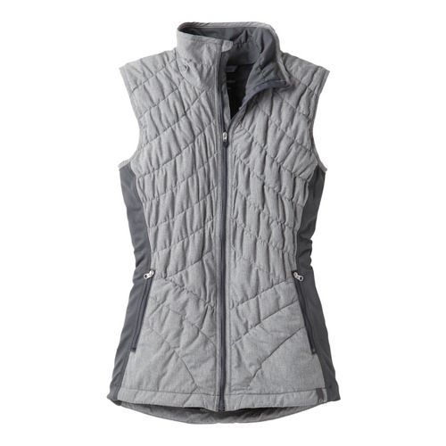 Womens Moving Comfort Sprint Insulated Running Vests - Asphalt 1X