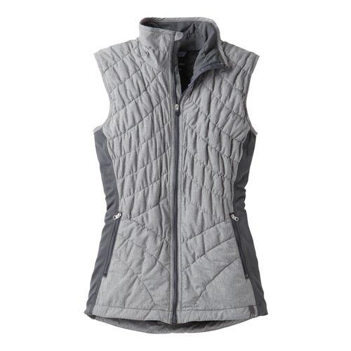 Womens Moving Comfort Sprint Insulated Running Vests - Asphalt 2X