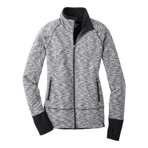 Womens Moving Comfort Foxie Full Zip Warm-Up Unhooded Jackets - Asphalt M