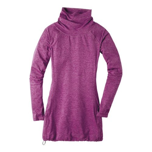 Womens Moving Comfort Chic Tunic Long Sleeve No Zip Technical Tops - Purple Fizz L ...