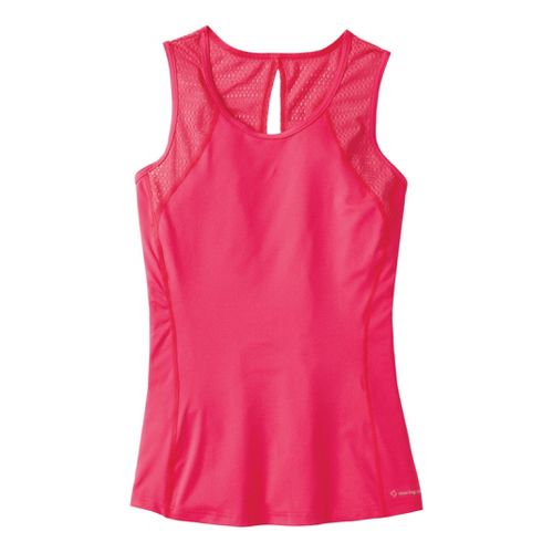 Womens Moving Comfort Dash Sleeveless (Plus Sizes) Technical Tops - Pink Shock 2X
