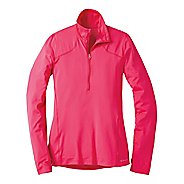 Womens Moving Comfort Dash (Plus Sizes) Long Sleeve 1/2 Zip Technical Tops