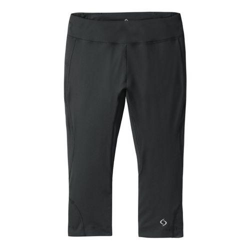 Womens Moving Comfort Endurance (Plus Sizes) Capri Tights - Black 2X