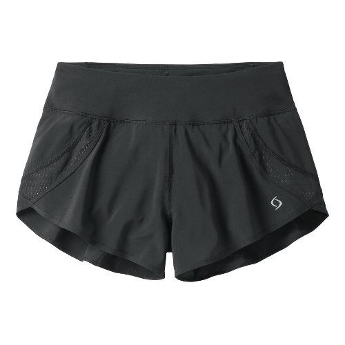 Womens Moving Comfort Momentum Lined Shorts - Black L