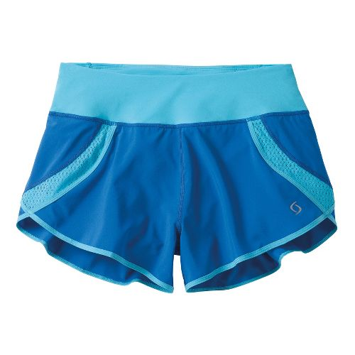 Womens Moving Comfort Momentum Lined Shorts - Cosmic L