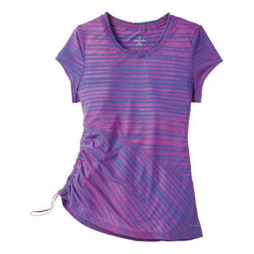 Womens Moving Comfort Flaunt It Tee Short Sleeve Technical Tops - Daydream L