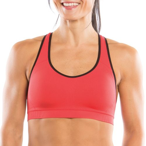 Womens Moving Comfort JustRight Racer Sports Bra - Punch L