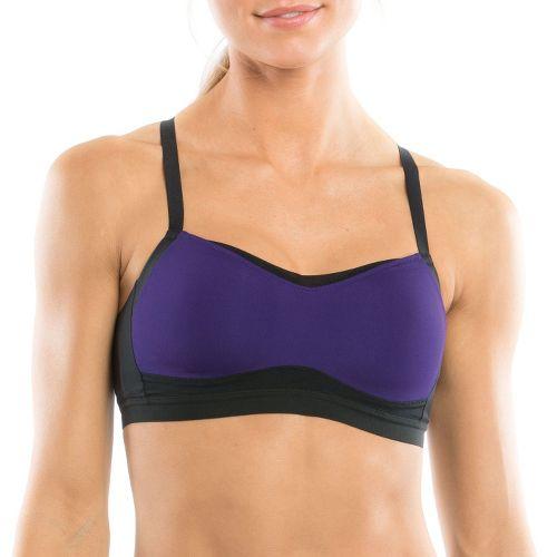 Womens Moving Comfort Fineform A/B Sports Bra - Dark Purple/Black S